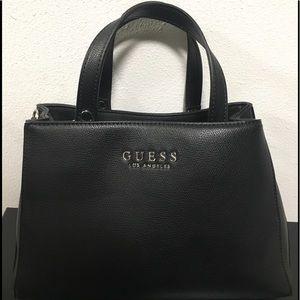 Guess LA Black Satchel Bag W' Twilly